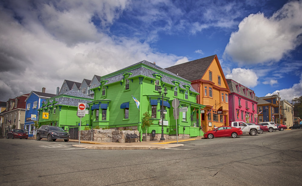 Colourful Shop in Lunenburg, Nova Scotia - Across the Blue Planet