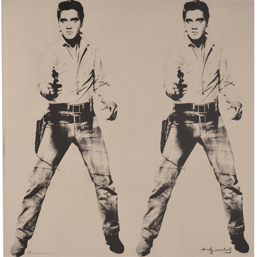 Elvis Two Times by Andy Warhol