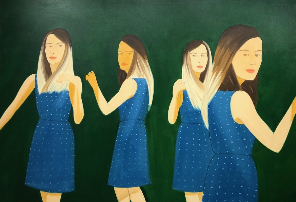 Alex Katz at Richard Gray Gallery's booth at EXPO