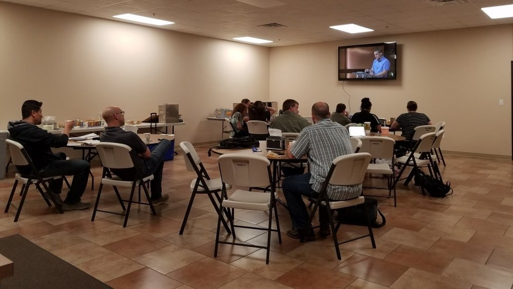 LHBC Members attending Secret Church Livestream with David Platt