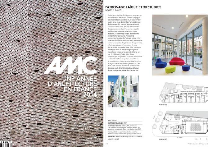 AMC   Patronage Laïque et 30 Studios/ AMC - Une Année d'architecture en France 2014 - n° 238