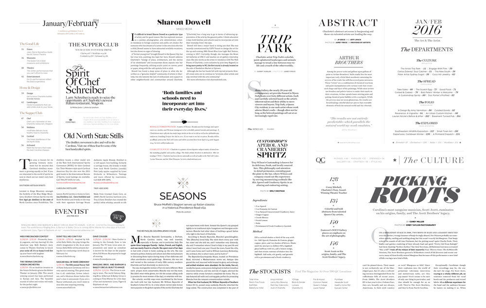 Rethinking the type for the magazine seems like a fairly simple task. In 2014, the number of different fonts used was staggering. For the 2016 relaunch, we narrowed it down to two typefaces, Surveyor and Gotham. The two families allowed for an incredible amount of depth.