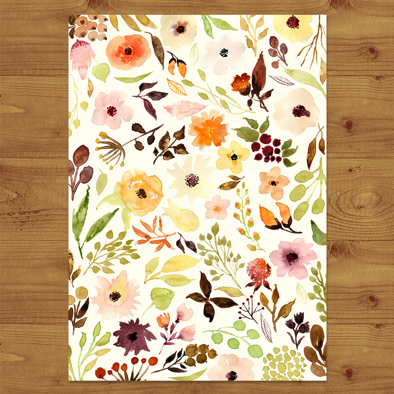 Autumn Floral Wedding Invitations Hawthorne and Ivory