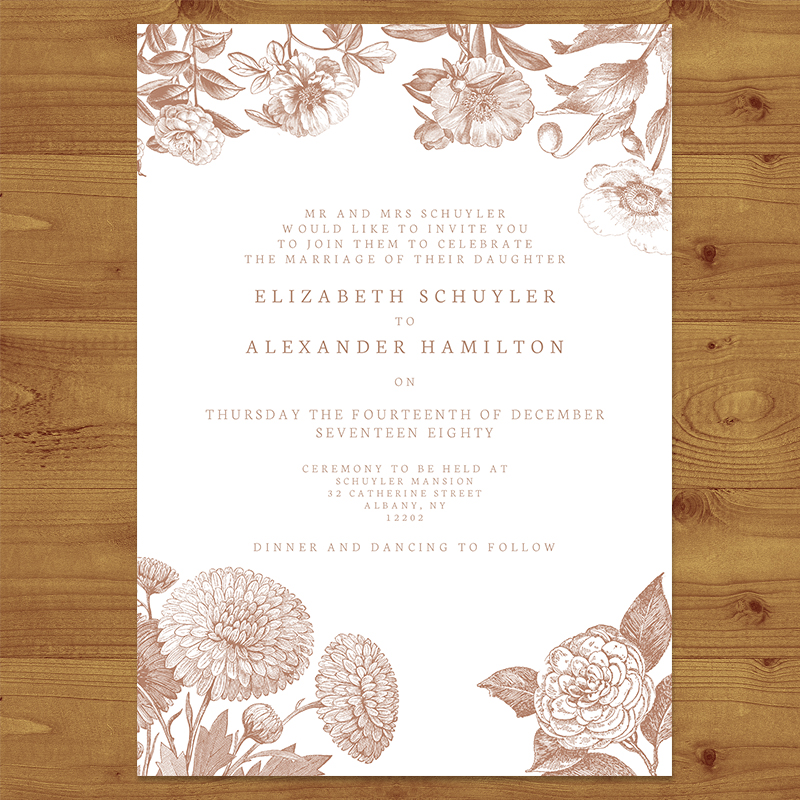 NUDE ENGRAVED Wedding Invitation Hawthorne and Ivory