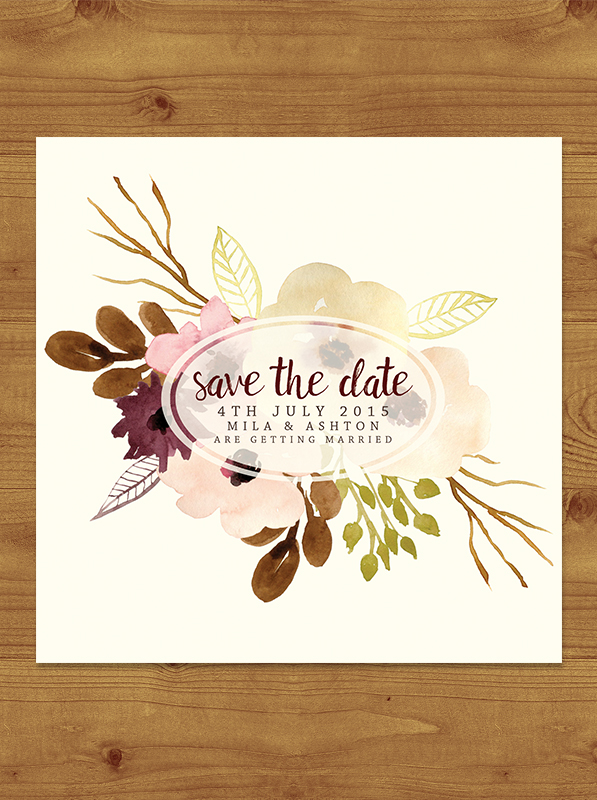 Autumn Flowers Save the Date