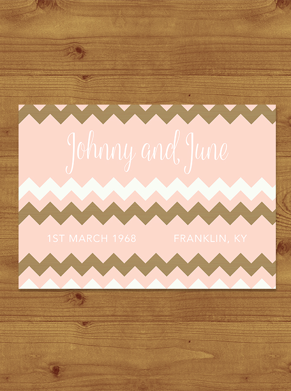 Blush and Rose Gold Save the Date