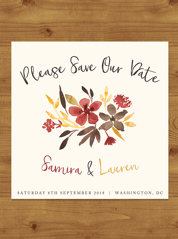 Cranberry and Mustard Save the Date