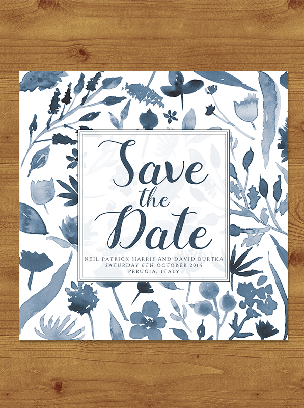 Dusky Blue Save the Date