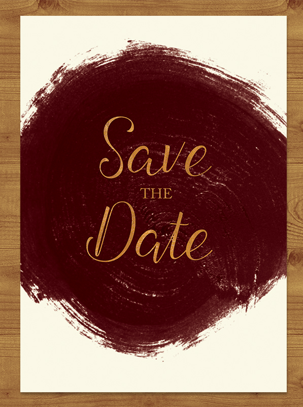 Marsala Wine Save the Date