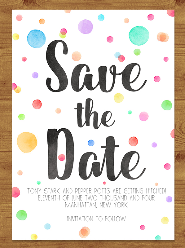 Rainbow Drops Save the Date
