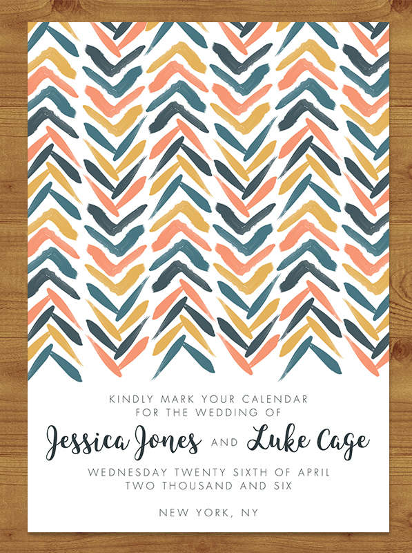 Retro Chic Save the Date
