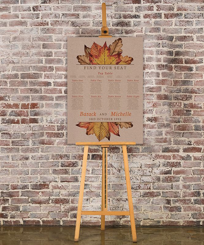 Autumn Leaves Table Plan