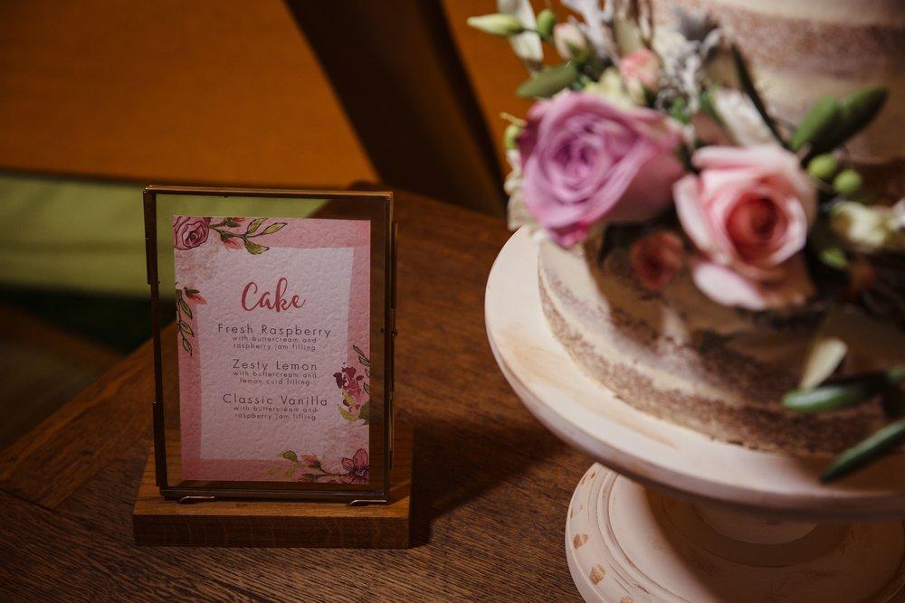 bespoke wedding stationery design tipi naked cake