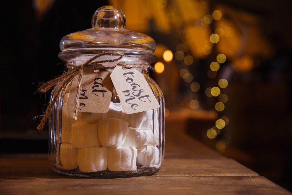 bespoke wedding stationery design tipi marshmallow bar