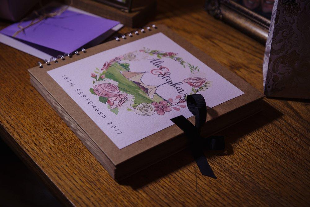 bespoke wedding stationery design tipi guestbook