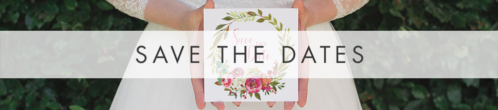 Bright Summer Floral Save The Dates - colourful pink watercolour flowers wedding stationery suite uk - Hawthorne and Ivory
