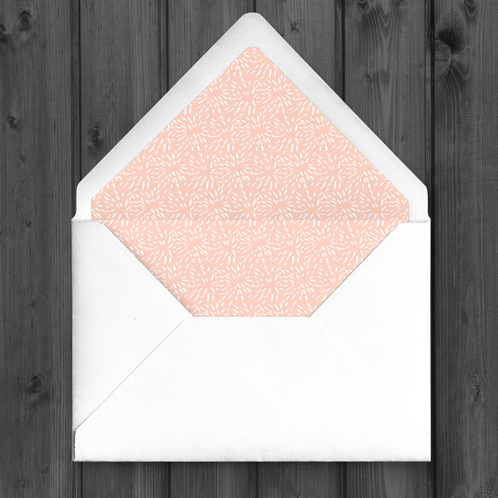 Black and Blush Envelope Liner - bold modern graphic wedding stationery suite uk - Hawthorne and Ivory