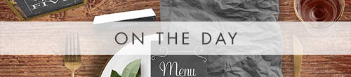 Chalkboard On The Day - rustic chalk slate grey wedding stationery suite uk - Hawthorne and Ivory