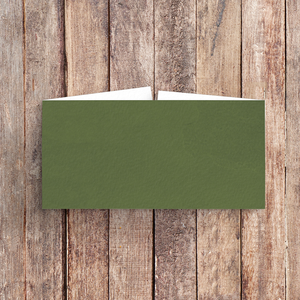 Leafy Botanical Belly Band - leaf green painted garden greenery wedding stationery suite uk - Hawthorne and Ivory