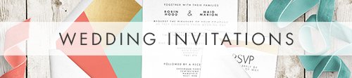 Aqua and Coral Geometry Invitation Suite - bold geometric wedding stationery suite UK - Hawthorne and Ivory