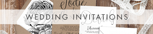 Simple Kraft Invitation - rustic simple botanical floral wedding wedding stationery suite uk - Hawthorne and Ivory