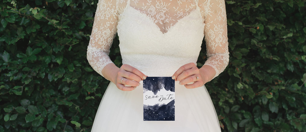 starry night celestial save the date