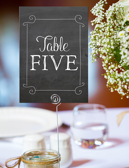 Chalkboard Table Number - rustic chalk slate grey wedding stationery suite uk - Hawthorne and Ivory