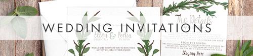 Leafy Botanical Invitation - leaf green painted garden greenery wedding stationery suite uk - Hawthorne and Ivory