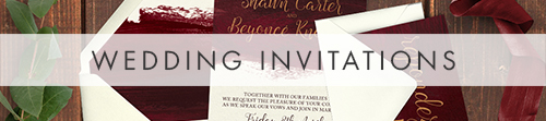 Marsala Wine Invitation - burgundy red watercolour gold copper wedding stationery suite uk - Hawthorne and Ivory