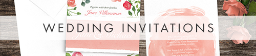 Rose Bush Invitation - peach pink roses watercolour wedding wedding stationery suite uk - Hawthorne and Ivory