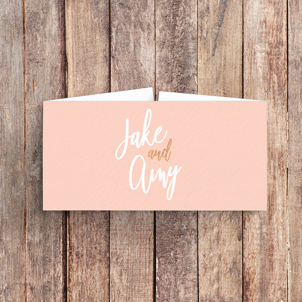 Blush Confetti Belly Band - blush pink and rose gold whimsical wedding stationery suite uk - Hawthorne and Ivory