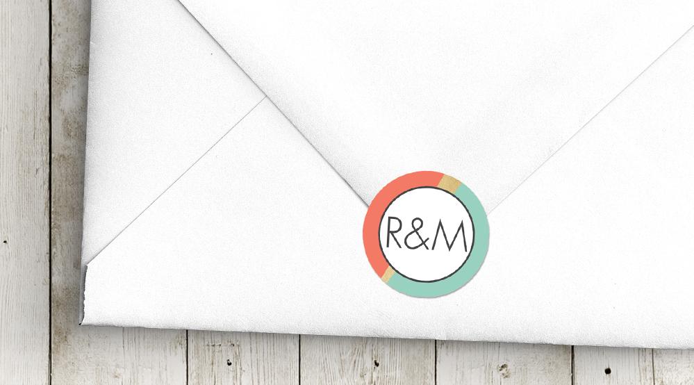 envelope seal sticker