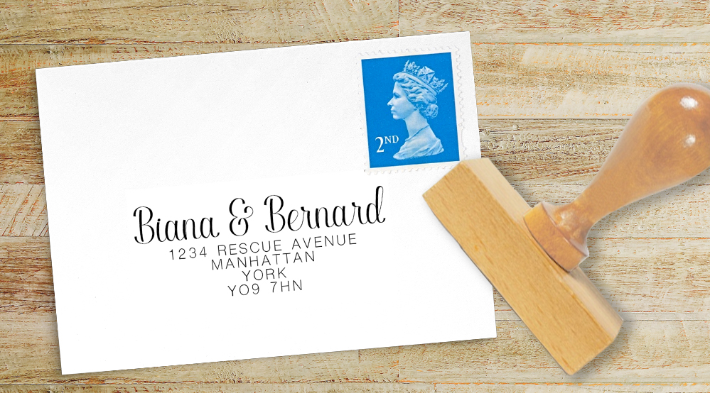Yellow Daisy Return Address Stamp - lemon floral simple modern wedding stationery suite uk - Hawthorne and Ivory