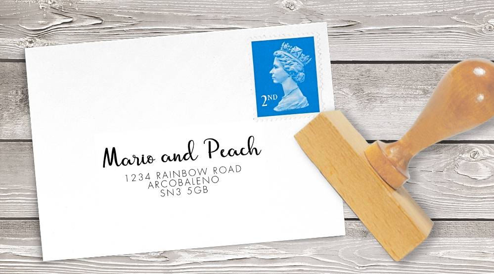 Spring Flowers Return Address Stamp - watercolour painted floral peach coral peony wedding wedding stationery suite uk - Hawthorne and Ivory