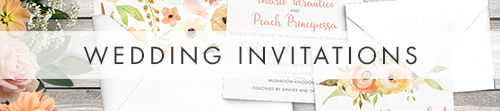 Spring Flowers Invitation - watercolour painted floral peach coral peony wedding wedding stationery suite uk - Hawthorne and Ivory