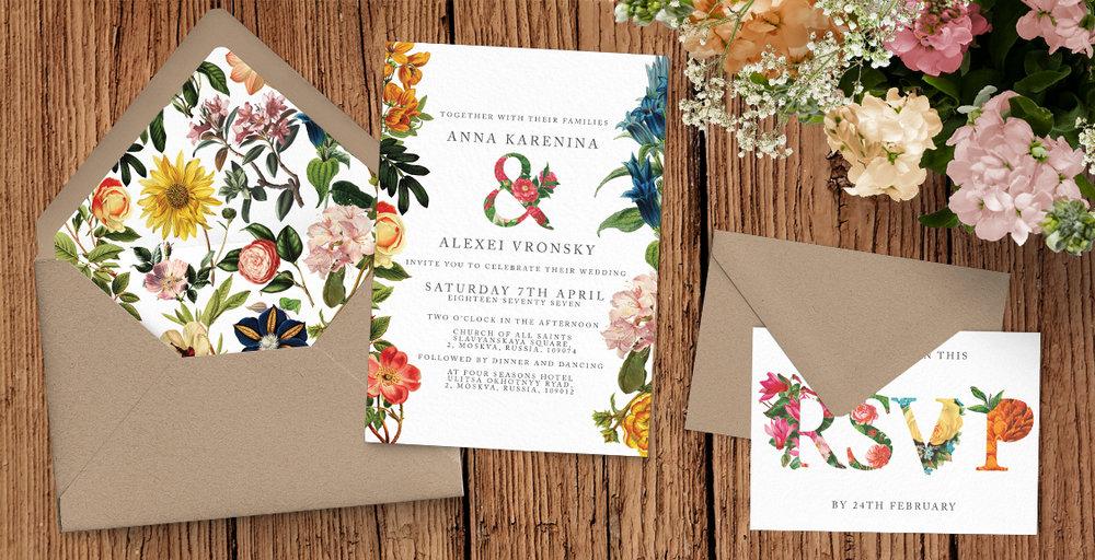 Floribunda Wedding Invitation Suite