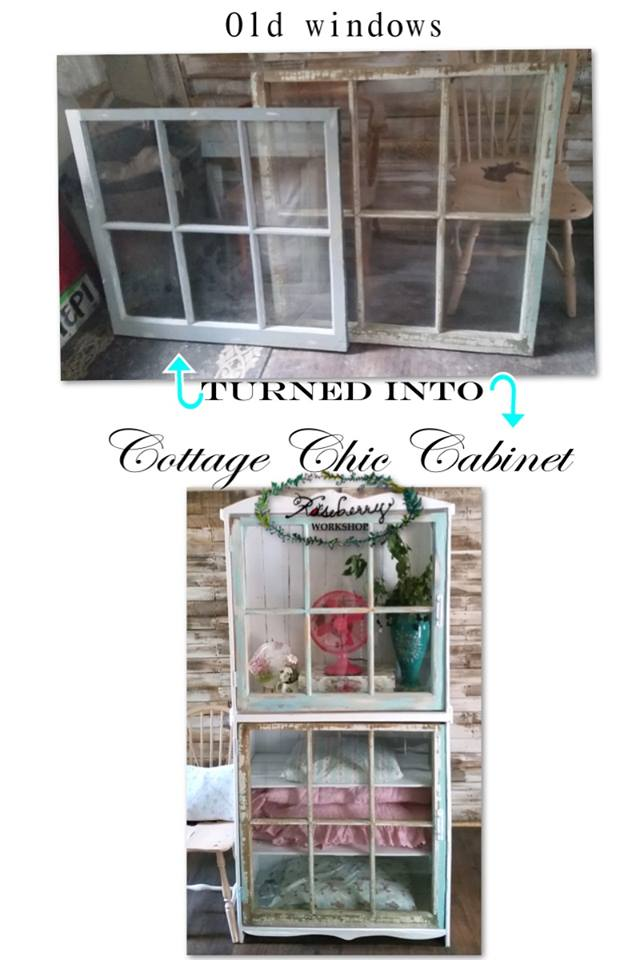 Beautiful old windows given a new purpose!