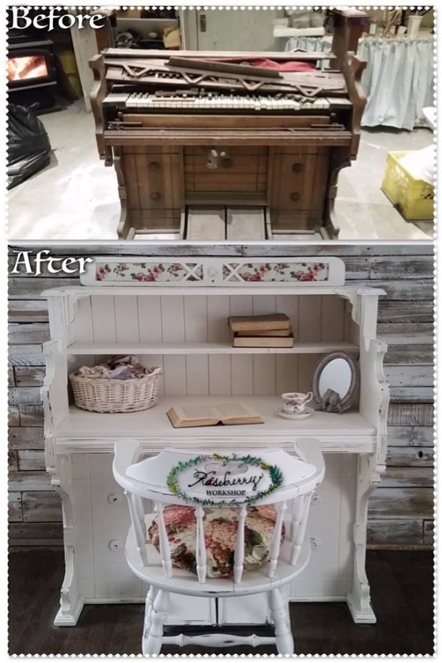 Tired old organ now has a new lease on life as a desk!