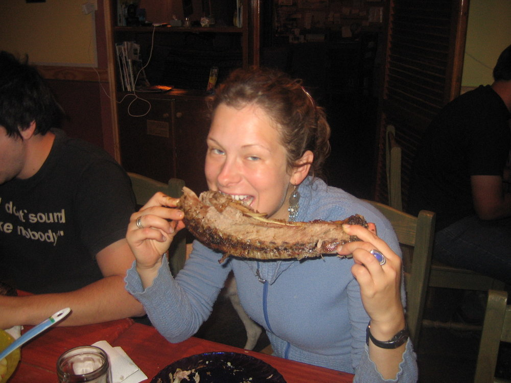 Eating all of the Argentinian beef