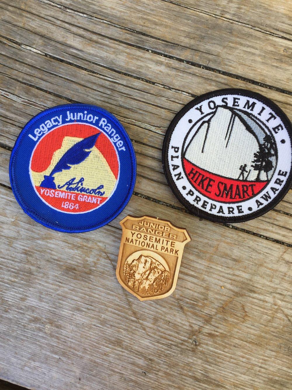 Junior Ranger badges