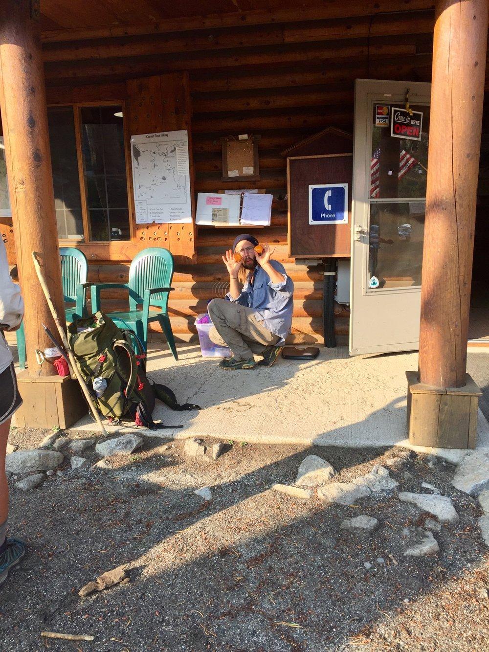 Trail magic at Carson Pass