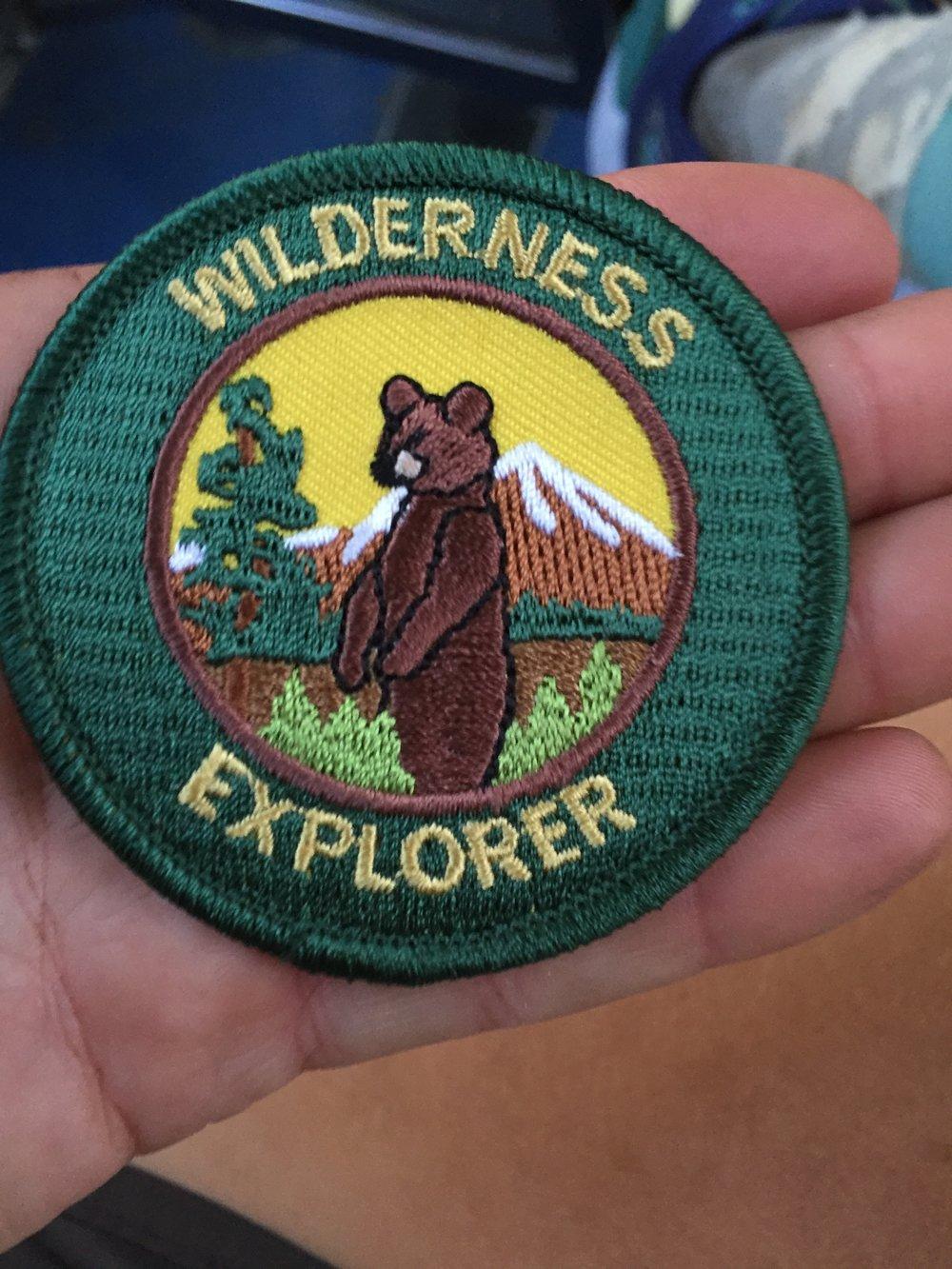 I even got another Junior Ranger badge!