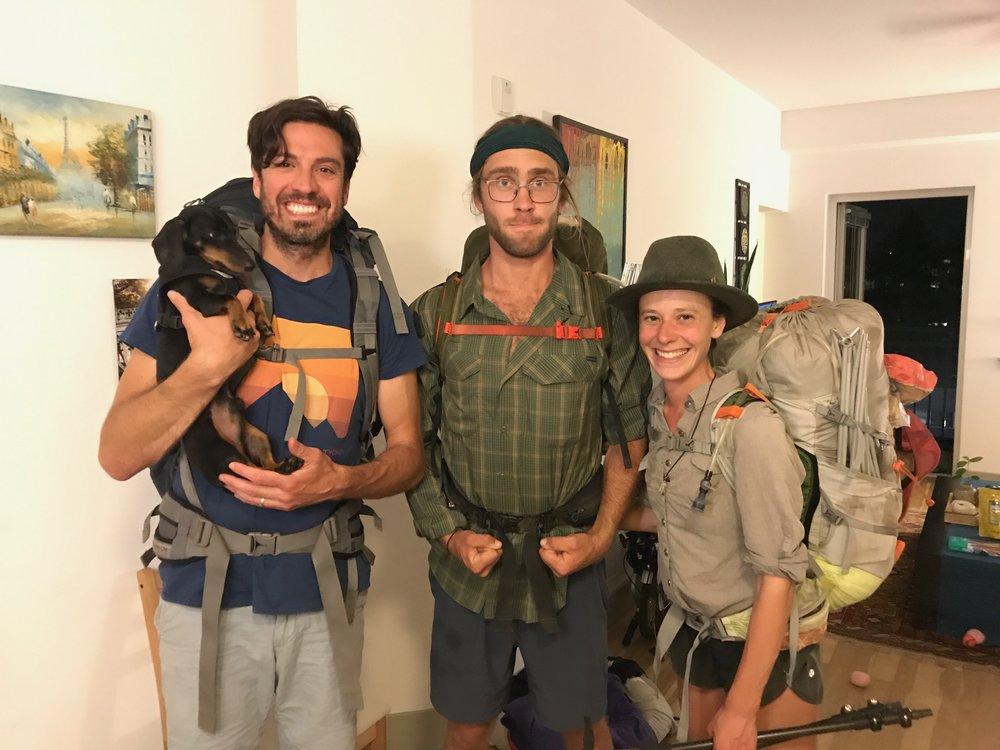 Forrest, Brady, Cosmo, Me