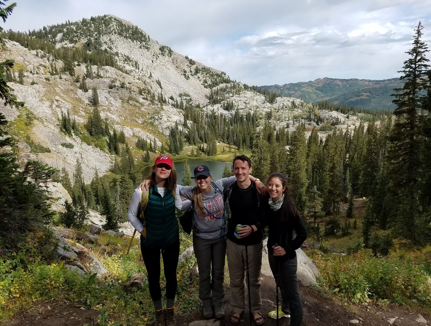 Lukasz, his girlfriend Mary Ann, and two other SPAPP board members, Agatha and Joanna, went camping in Utah last November.