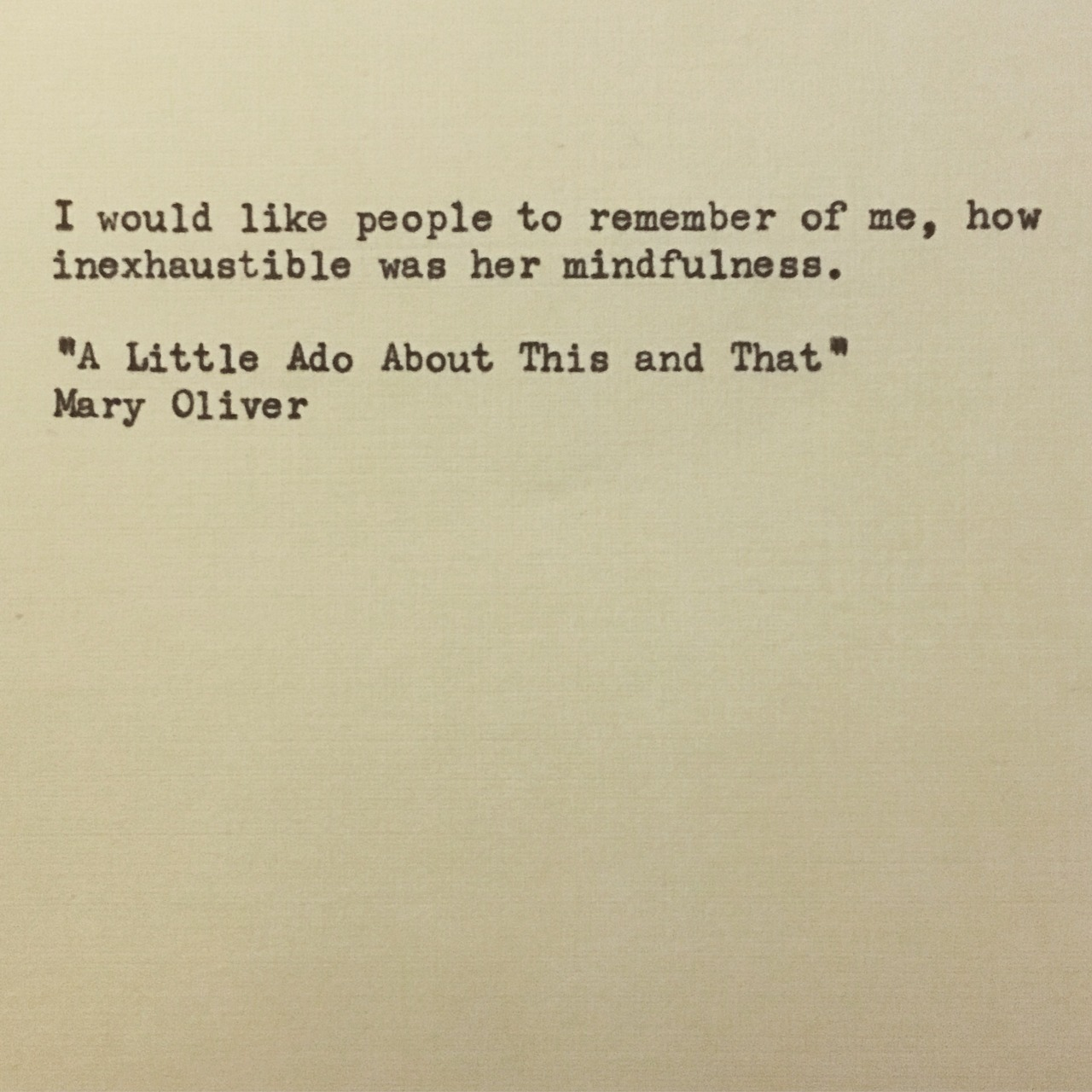 Mary Oliver Love Quotes Little Hunches