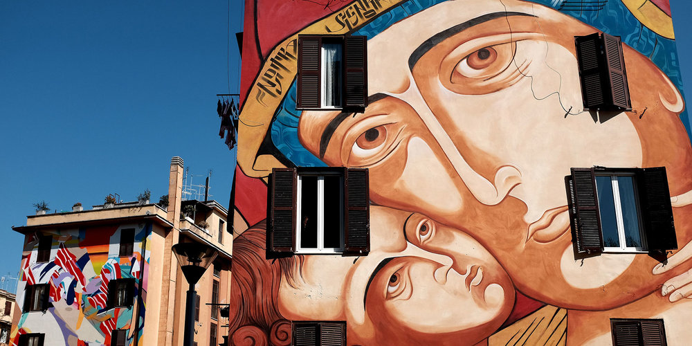 You'll find street art on nearly every corner and every wall in Rome, especially in the Quadraro neighborhood. (Photo: Getty Images)