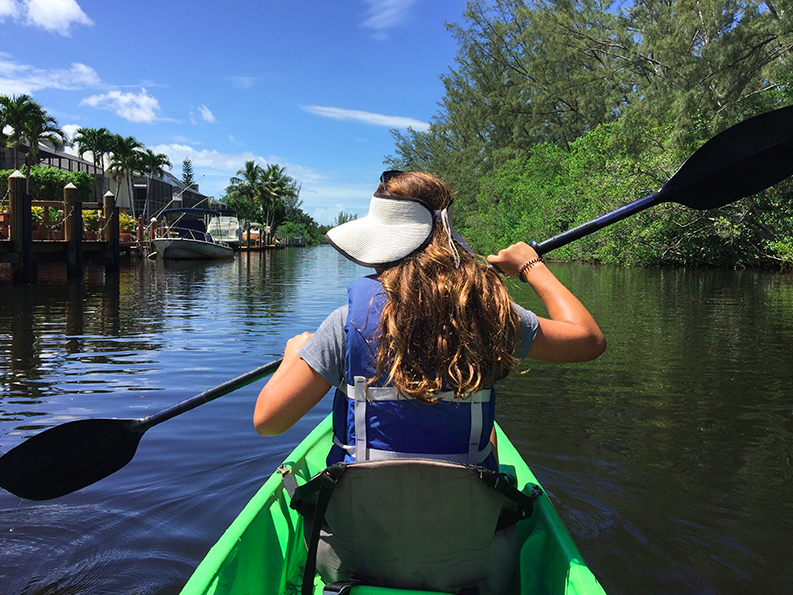 Kayaking in Naples.  Credit: Erica Firpo