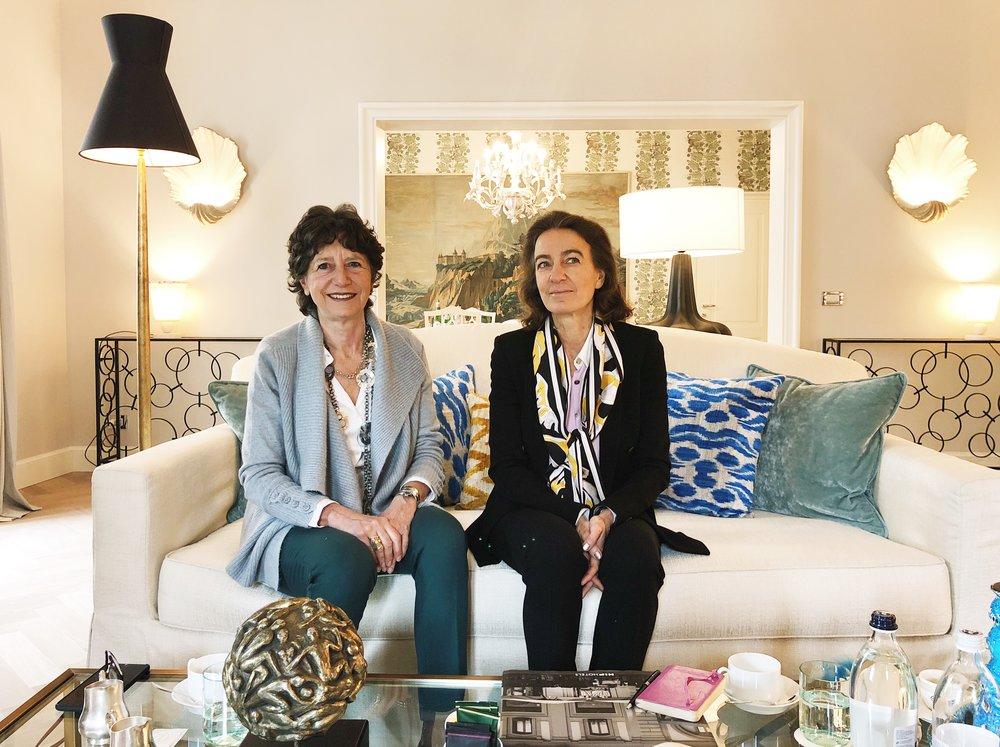 Designers Olga Polizzi and Laudomia Pucci.