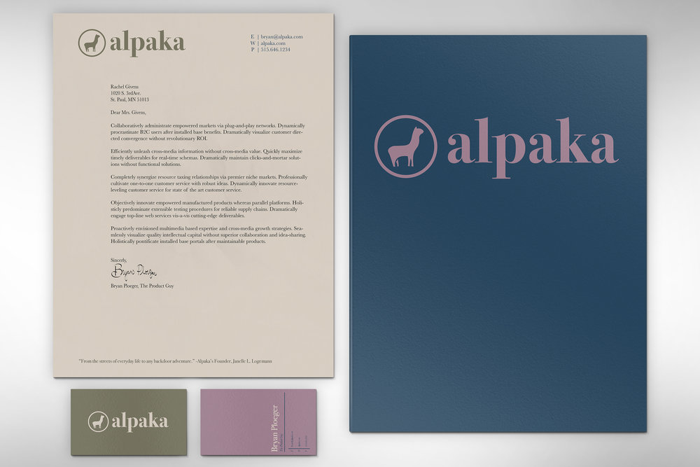 Letterhead + Business Card