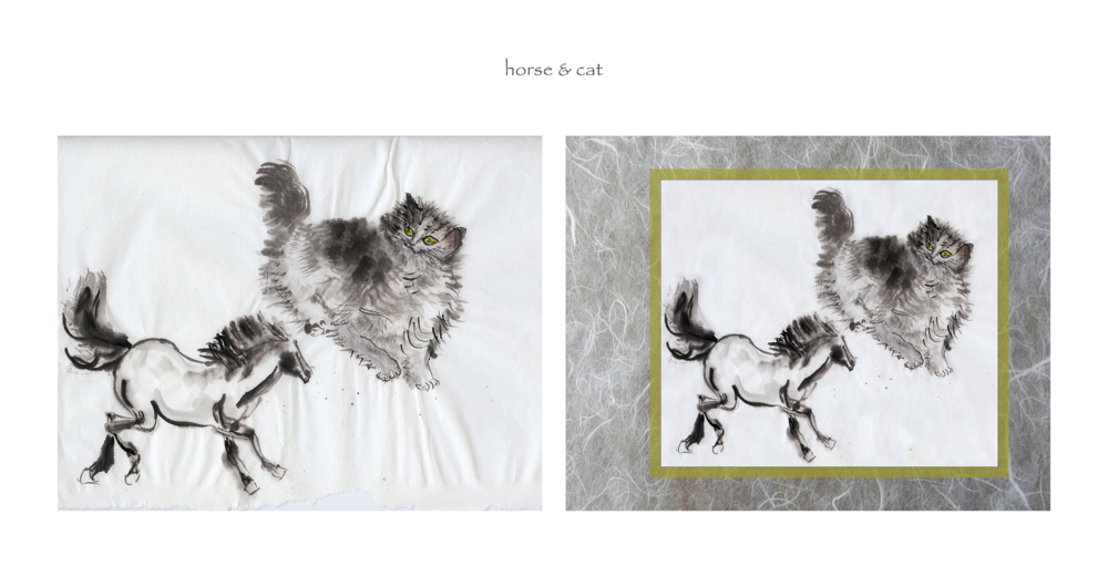 horse & cat (before & after)